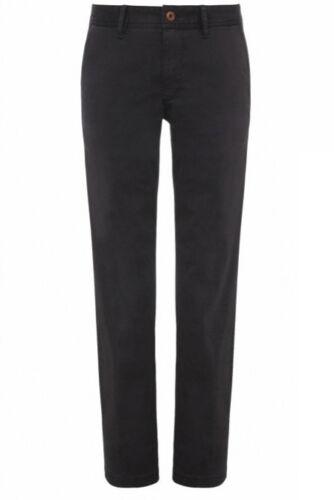 Hugo Boss Men/'s Orange Schino Black Chino Pants Regular Fit