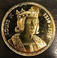 Medaille Proof-BE, Vermeil - Les Rois de France - LOUIS X 1314-1316