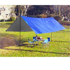 8Pcs-Black-Adjustable-Tarp-Shelter-Tent-Poles-Bracket-Set-For-Camping