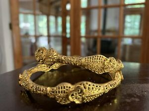 Indian Gold Plated Bangle Set Bridal Jewelry Bollywood Ethnic Bracelet Bsv501