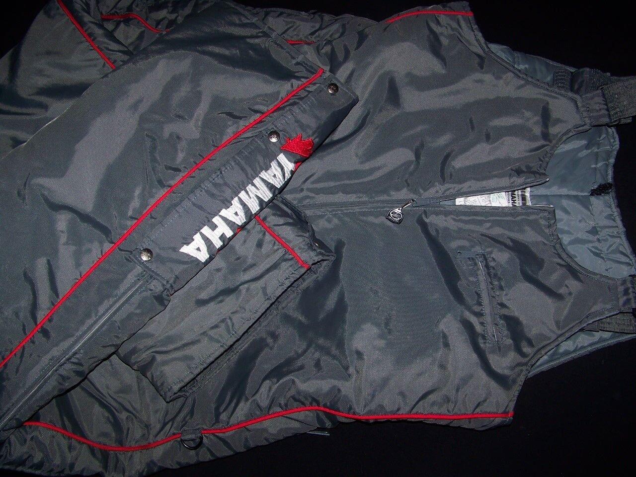 Yamaha 1988 Vintage Snowmobile  Pants Bib 1980s Skidoo Winter Parka Grey Red XXL  store