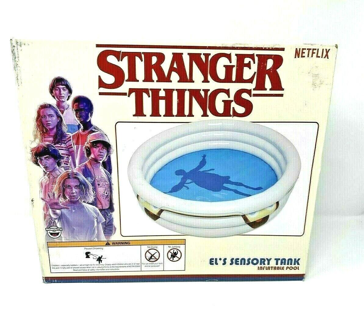 Stranger Things El's Sensory Tank Inflatable Kiddie Swimming Pool 60x60x15 Inch