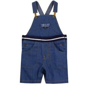 Details about Designer TIMBERLAND Baby Boys Chambray Denim Dungaree Shorts WAS £51 NOW £20