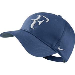 8aafeea07fc2 New Nike RF Roger Federer Hat Cap Ocean Fog   Tennis Dri Fit 371202 ...