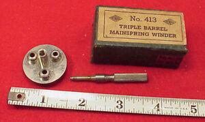 NEWALL-Triple-Barrel-8-3-4mm-7-1-2mm-6-1-2mm-WRISTWATCH-Mainspring-winder