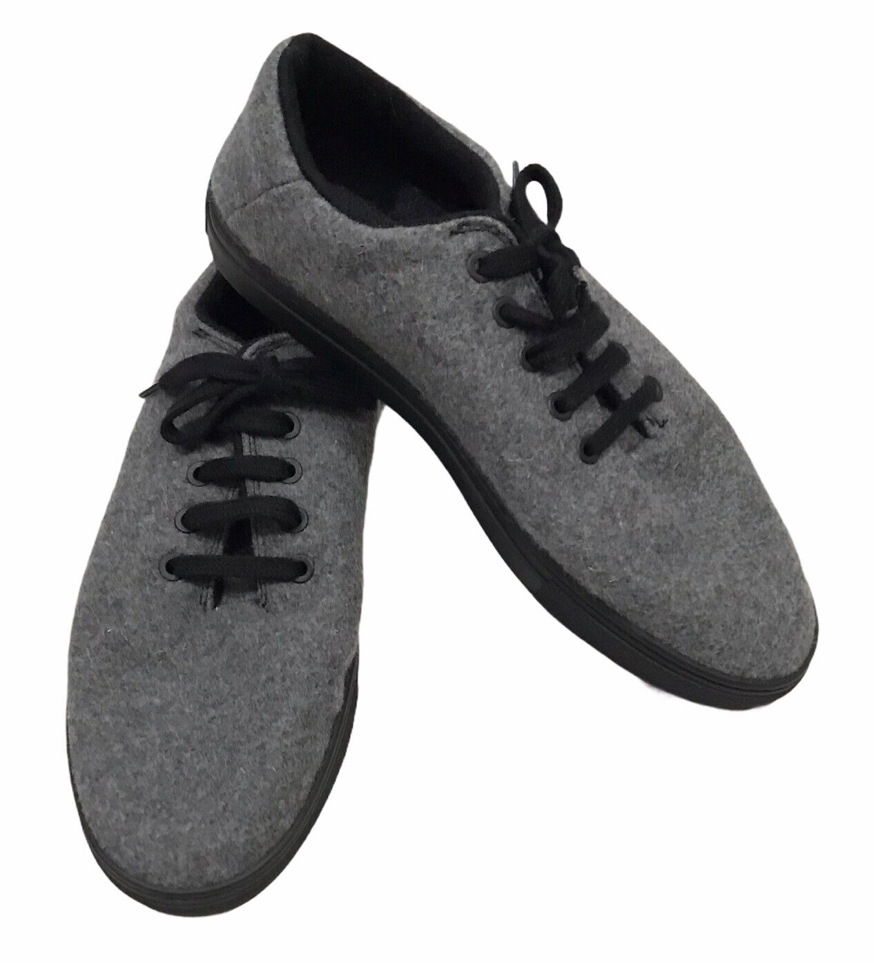 Baabuk Sneaker Light Grey Wool Black Sole Laces EU 41 Men 8 Women 10 EUC