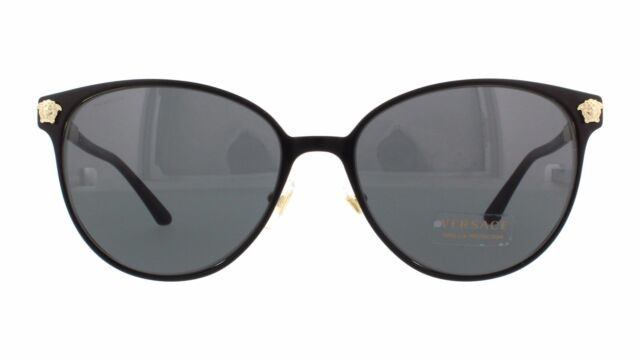 5ea1fc8420c Versace Sunglasses Ve 2168 1377t3 Polarized Black Gold   Gradient Gray 57 Mm