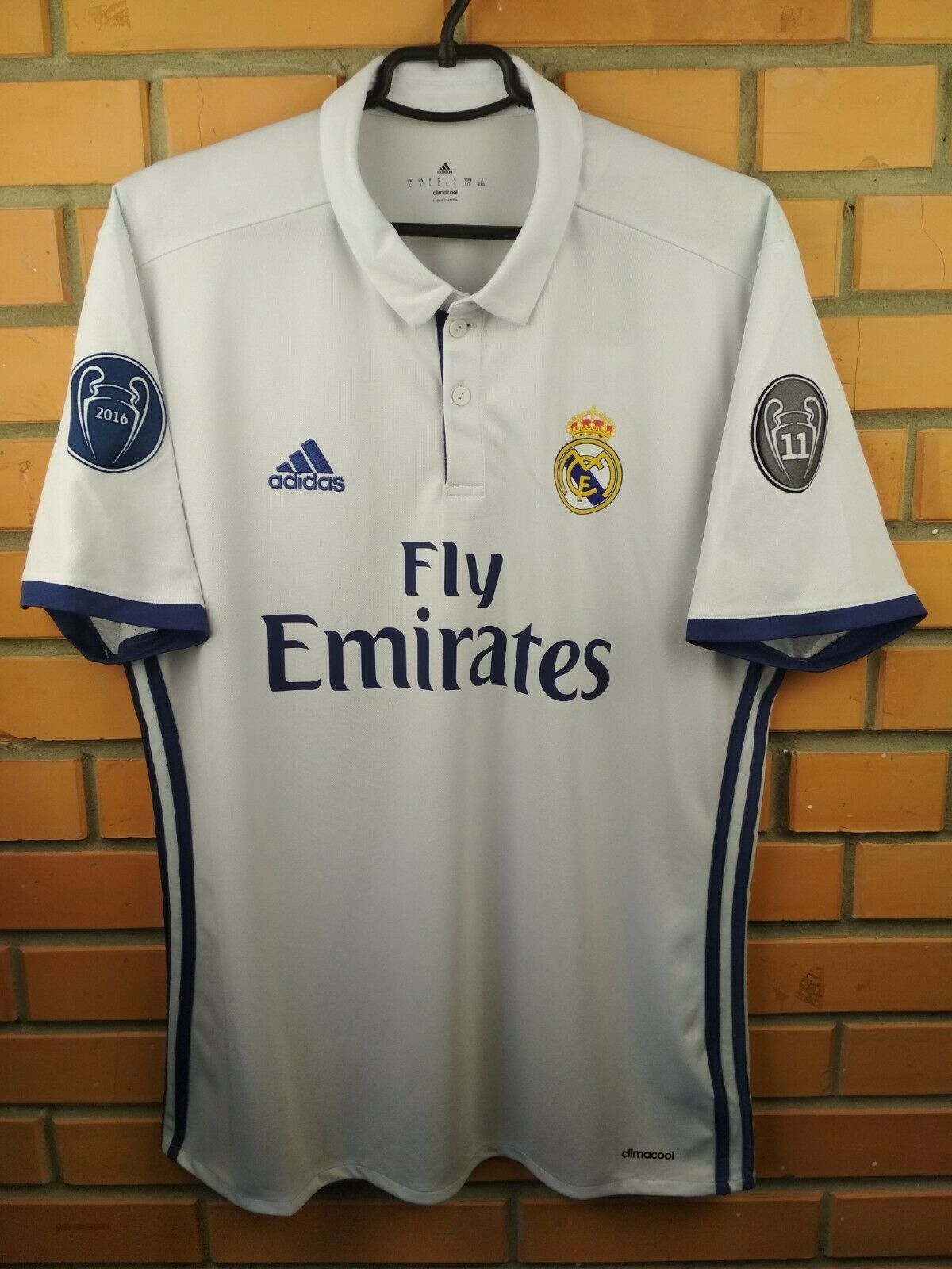 c1d29fbd819 Real Madrid jersey large 2016 2017 home shirt AI5187 soccer football Adidas