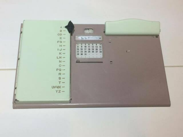 Vintage metal address book phone book note holder calendar