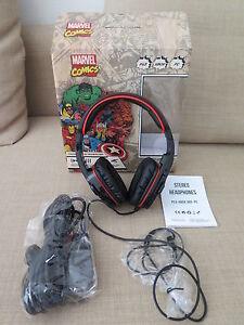 CUFFIE-della-MARVEL-come-nuove-per-PS3-XBOX-360-e-PC-Stereo-Gaming-Headphones