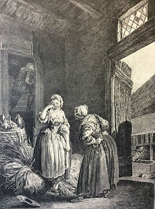 Baudouin-the-Lovers-Surprised-Engraving-Gravure-18th-Reprint-of-1920