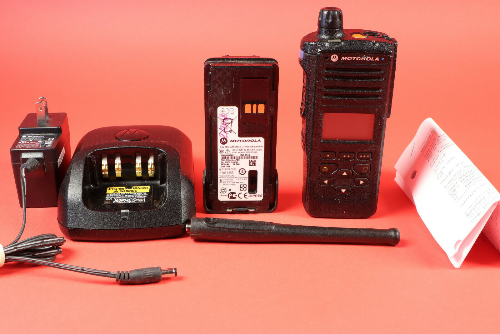 Motorola APX4000 UHF R2 + 5 Algo's + Bluetooth 1 knob 450-520MHz w/tags & Extras. Available Now for 850.00