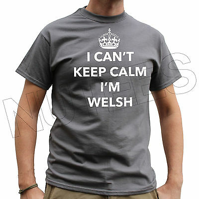 Wales Funny Mens Ladies T-Shirts Vests S-XXL Size I Can/'t Keep Calm I/'m Welsh