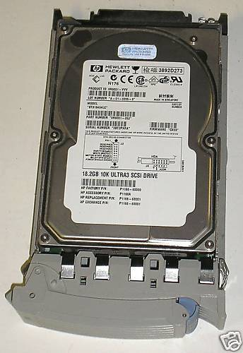 HEWLETT PACKARD 18.2 GIG SCA CADDIE 10K ULTRA2 SCSI