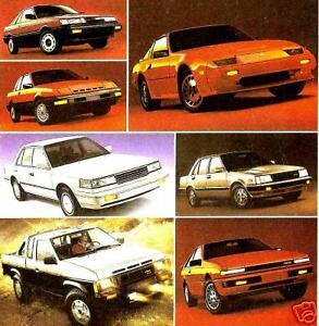 1984 Nissan Datsun Sales Brochure Sentra Stanza Maxima Truck 200SX 300ZX Pulsar