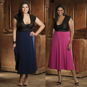 Plus-Size-Lingerie-Sizes-1X-2X-or-3X-Navy-Blue-or-Pink-Long-Gown-SOHX3225