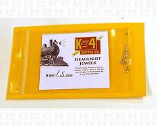 K4 HO Parts 1.5 Mm 0.06 Inch Marker Lamp Headlight Crystal Clear Jewel Lenses