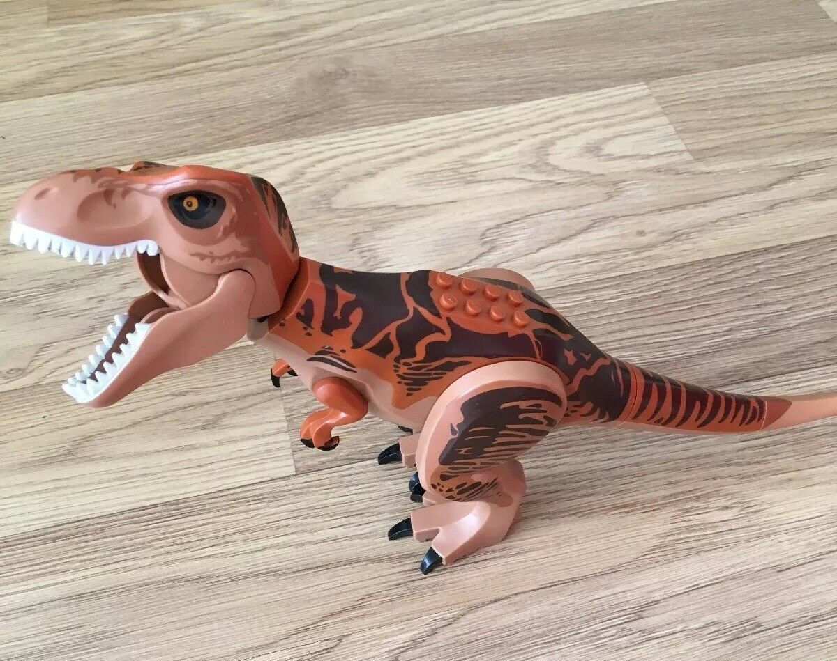 Lego T-Rex Dinosaur Dino figure from Jurassic World set 10758 (TRex04)