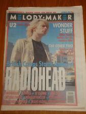 MELODY MAKER 1993 OCT 23 RADIOHEAD CREEP U2 LEMONHEADS
