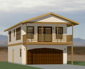 20x40 House -- 1 Bedroom 1.5 Bath -- 965 sq ft -- PDF Floor Plan -- Model 7K