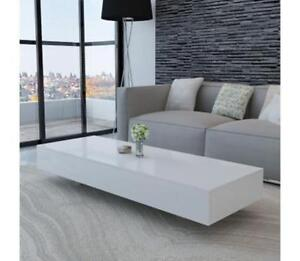 Image Is Loading High Gloss Coffee Table White Long Low Rectangle