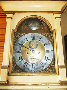 Musee-Collector-Pendule-Blanc-Antique-or-Laiton-Application-Baroque-Scandinavie