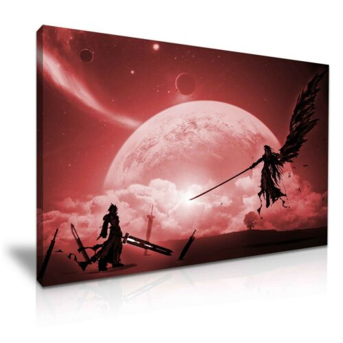 Final Fantasy 7 Sephiroth VS Cloud Stretched Canvas Wall Art 76x50cm