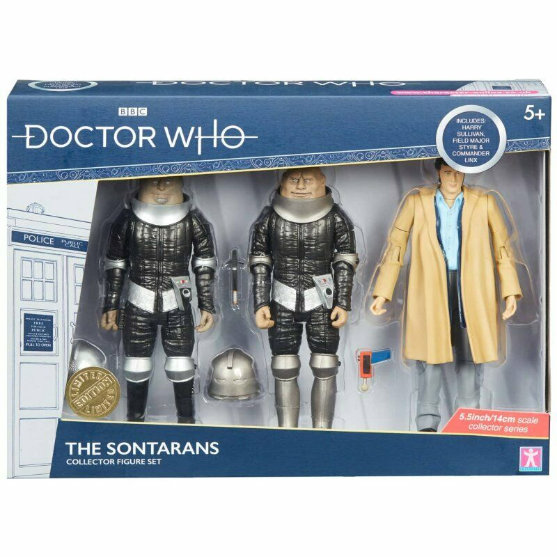 Doctor Who Collectible Action Figures The Sontarans Harry Sullivan 3 Pack Figure