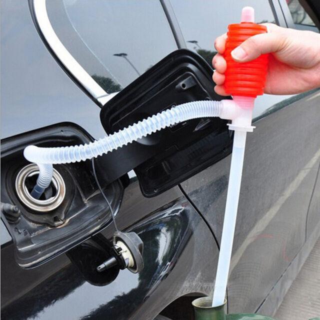 Universal Car Manual Hand Siphon Pump Hose Gas Oil Liquid Syphon Transfer Pump