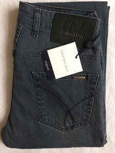 Clearance Leg Dark £35 Calvin Klein Straight Grey Jeans xqaa7A8p