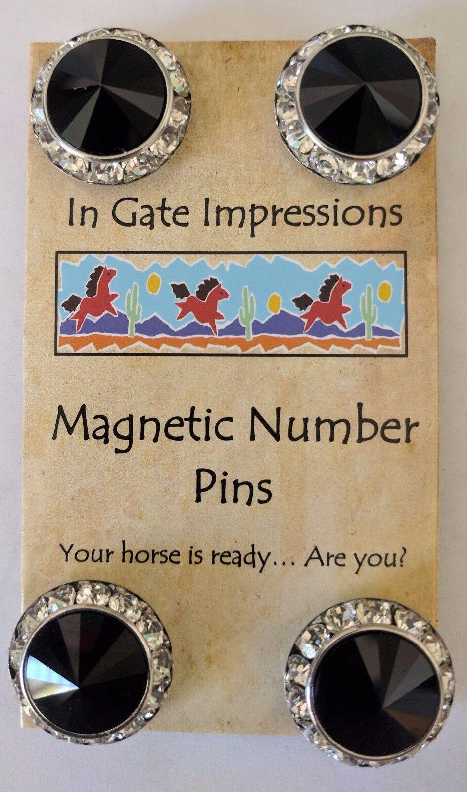 JUMBO JET Magnetic number pins horse show number magnet Swarovski Crystals