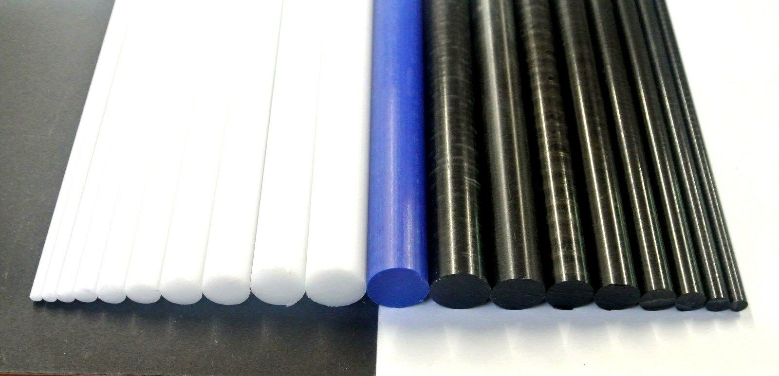 Acetal Rod Black White Blue Engineering Plastic Round Bar Billet Spacer 4mm-20mm