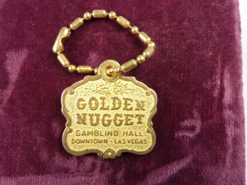 Vintage Golden Nugget Downtown Las Vegas  Casino Key Chain New Old Stock