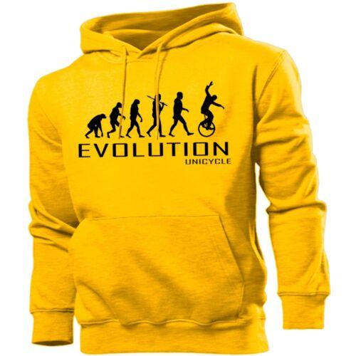 UNICYCLE EVOLUTION Felpa Con Cappuccio Uomo Donna Kids Felpa con cappuccio SPORT BICI CICLISMO CIRCO REGALO
