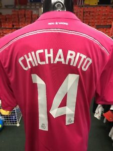 new style 6a6aa 77bcd Details about Adidas Real Madrid Jersey Chicharito 14