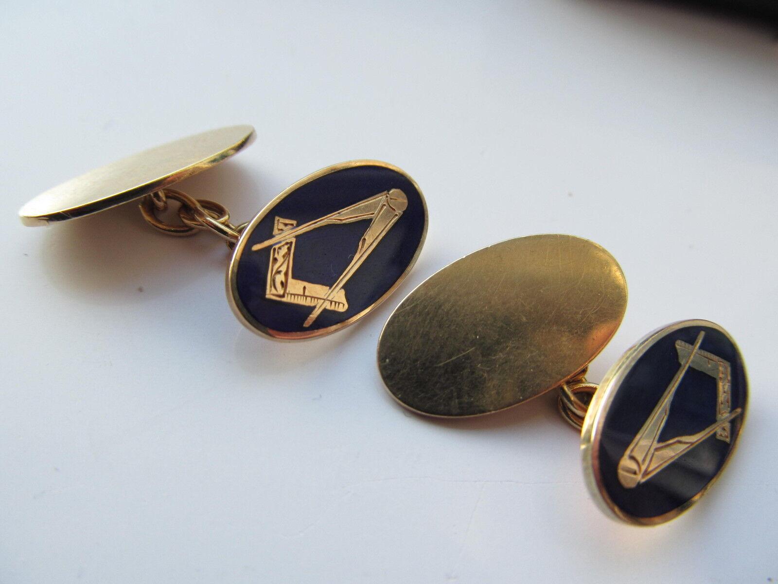 Hallmarked inglese inglese inglese 9ct oro massonico Gemelli 8a292e