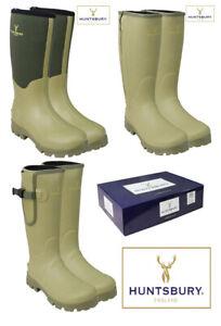 Hengrave-Mens-Neoprene-Zipped-Gusset-Wellington-Country-Green-Boots-Wellies-6-12