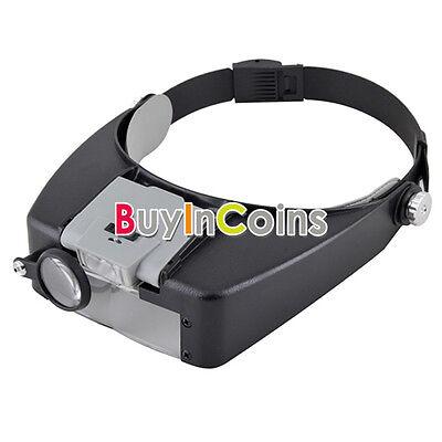 5x 10x 20x 40x 45x 60x LED Light Folding Magnifier Glass Headband Jewelry Loupe