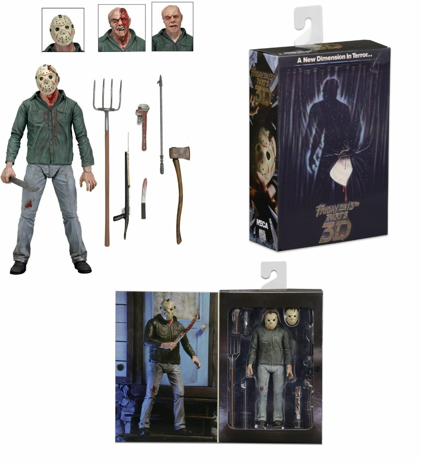 Friday Friday Friday the 13th Part 3 Ultimate Jason Vorhees 7  action figure (NECA)  IN STOCK a411cb