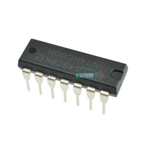 20PCS-74HC00N-SN74HC00N-IC-QUAD-2-INPUT-NAND-GATE-14-DIP