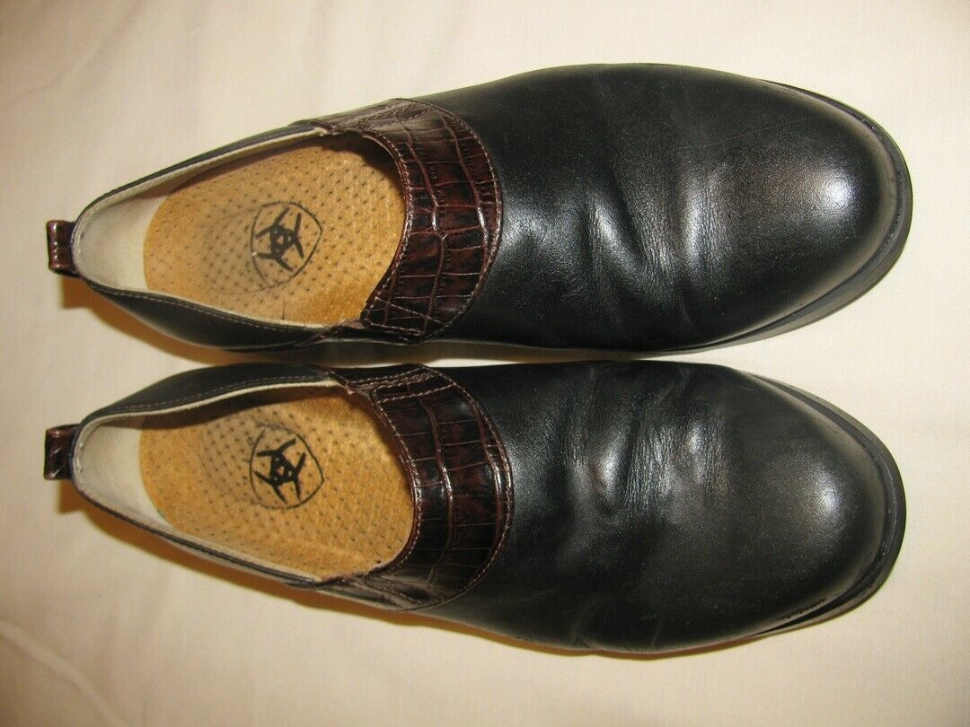 ARIAT Black Leather Loafers Style 52328 Size 8.5 B