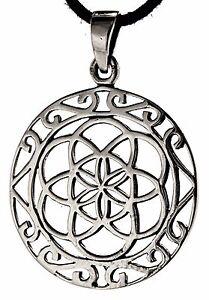 95: Blume Des Lebens Anhänger 925 Silber Flower Of Life Harmonie Silberkette