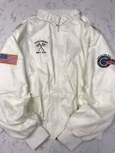Vintage-INDY-500-Jacket-Official-1987-Challenger-Tow-Truck-UNIQUE-One-Of-A-Kind