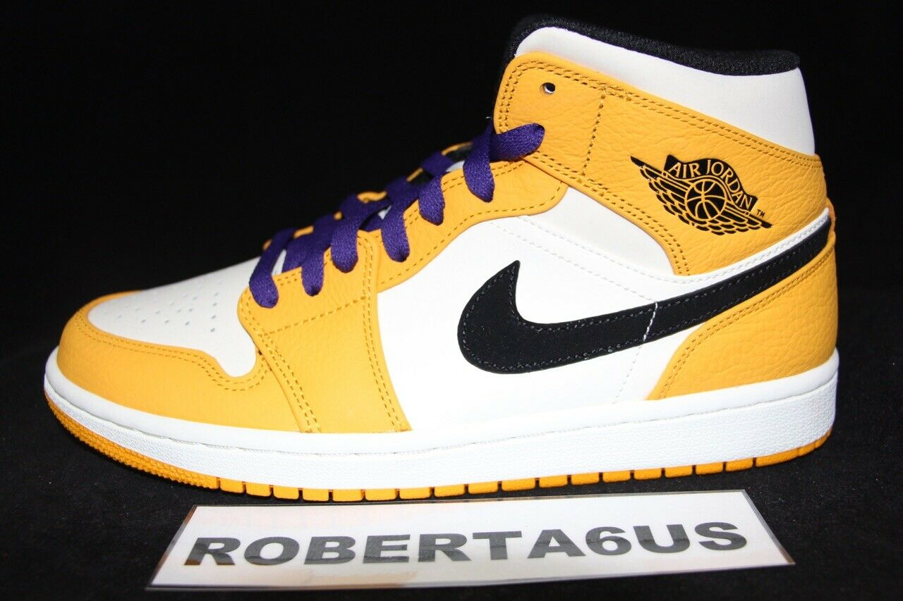 Air Jordan Retro I 1 MID SE Lakers University gold Purple 852542-700