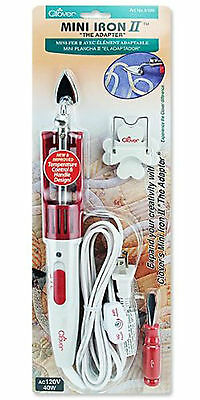 Clover Mini Iron II  Perfect For Patchwork, Craft Projects, Applique! CL8004GB