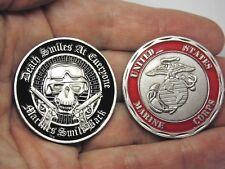 US Marine Corps Skull Challenge Coin Semper Fi USMC Devil Dog Marine Collection