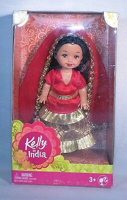 2014 Barbie - Kelly in India Doll -  Red & Gold - Exclusive to India