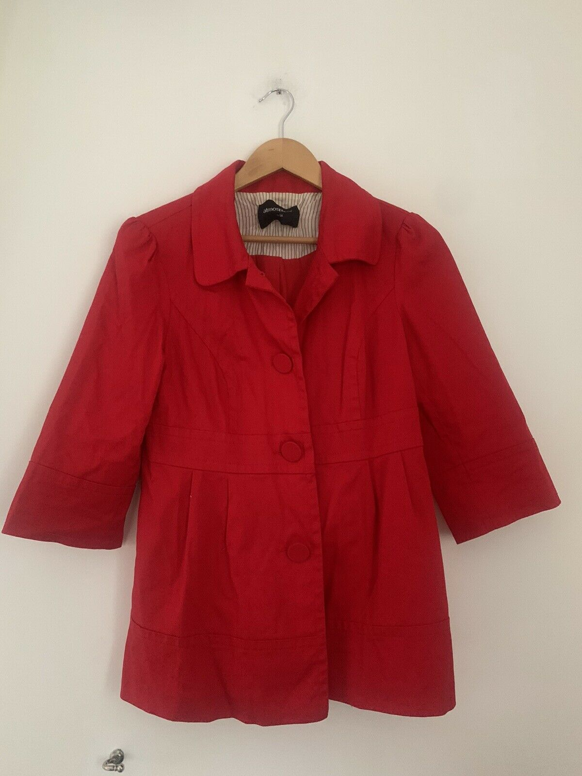 Womens Coat Light Weight Atmosphere 10 Red Cotton <JS4399z