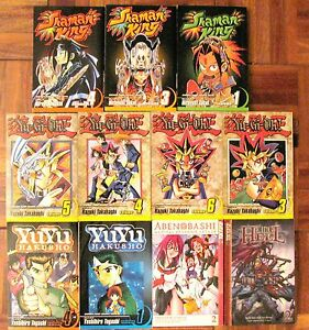 ANIME-MAGAZINE-LOT-of-11-YU-GI-OH-SHAMAN-KING-YUY-HAKUSHO-ABEN-BASHI