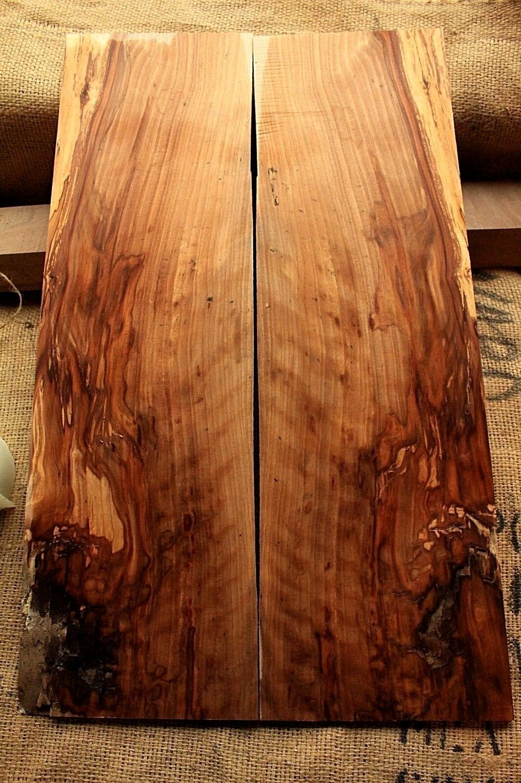 .29  curly figurot spalted sweet gum wood lumber guitar bass tonewood maple 495